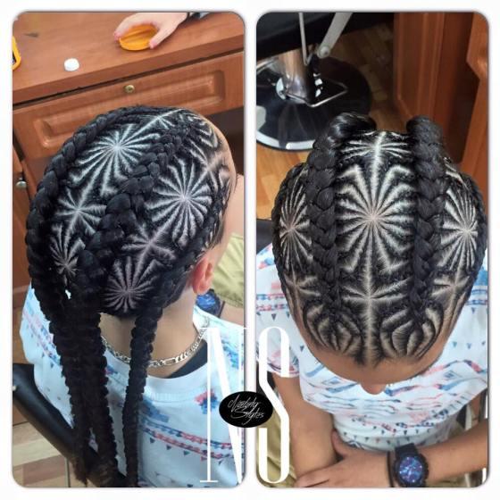Hair Braid Mandala by Nataly Styles