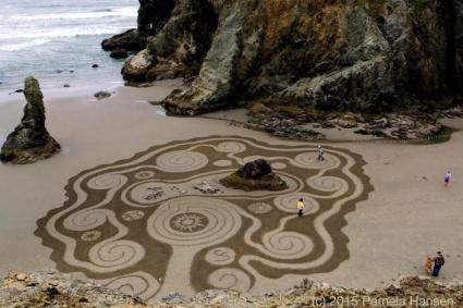Sand Labyrinth Mandala