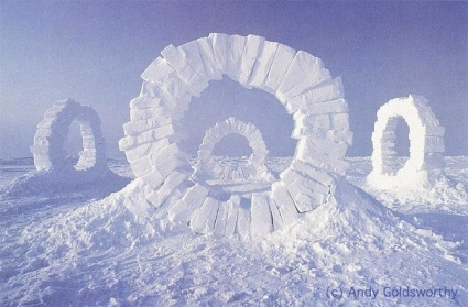 Snow Blocks Circles