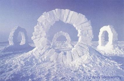 Snow Blocks Circles