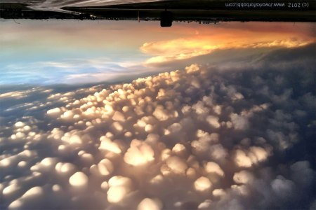 mammatus clouds - upside down
