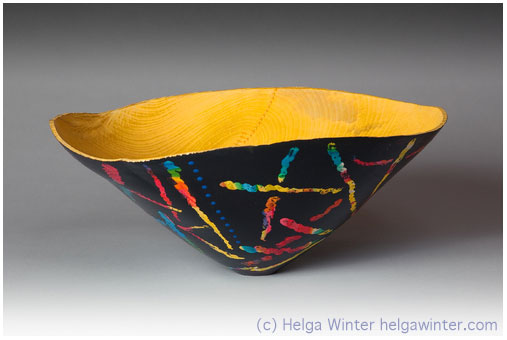 Turned Wood Bowl - Helga Winter