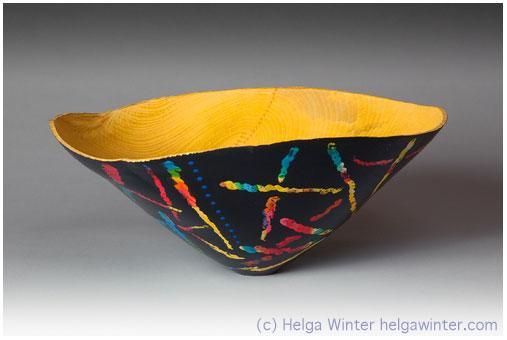 Turned Wood Bowl - Helga Winter