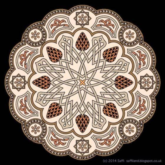 Alhambra Mandala by Saffi