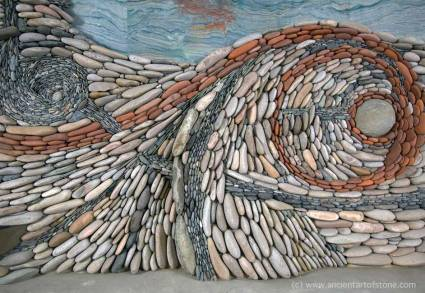 Ancient Art of Stone wall mural
