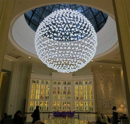 Baccarat crystal chandelier - photo by Chris McGinnis