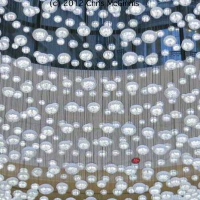 close up view of baccarat crystal chandelier - photo by Chris McGinnis
