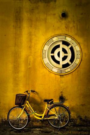 Golden Wheels Mandala by Victor Djaja