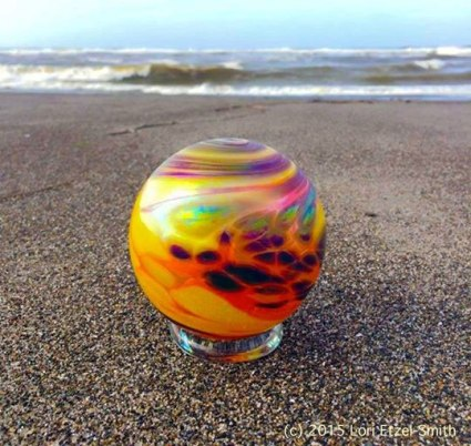 Glass Float on the beach in Lincoln City, OR
