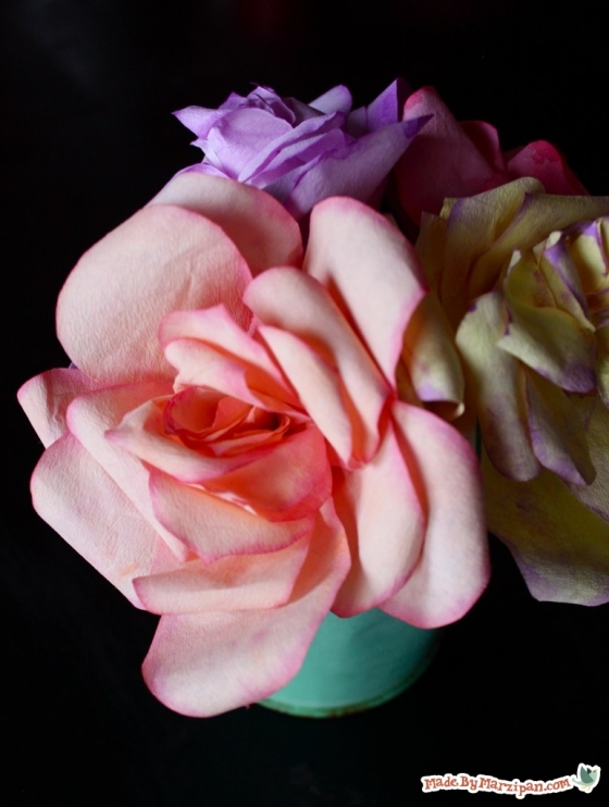 DIY Coffee Filter Roses by Marzipan