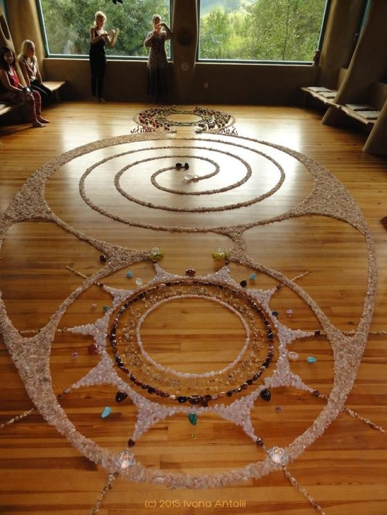 Crystal Labyrinth Mandala