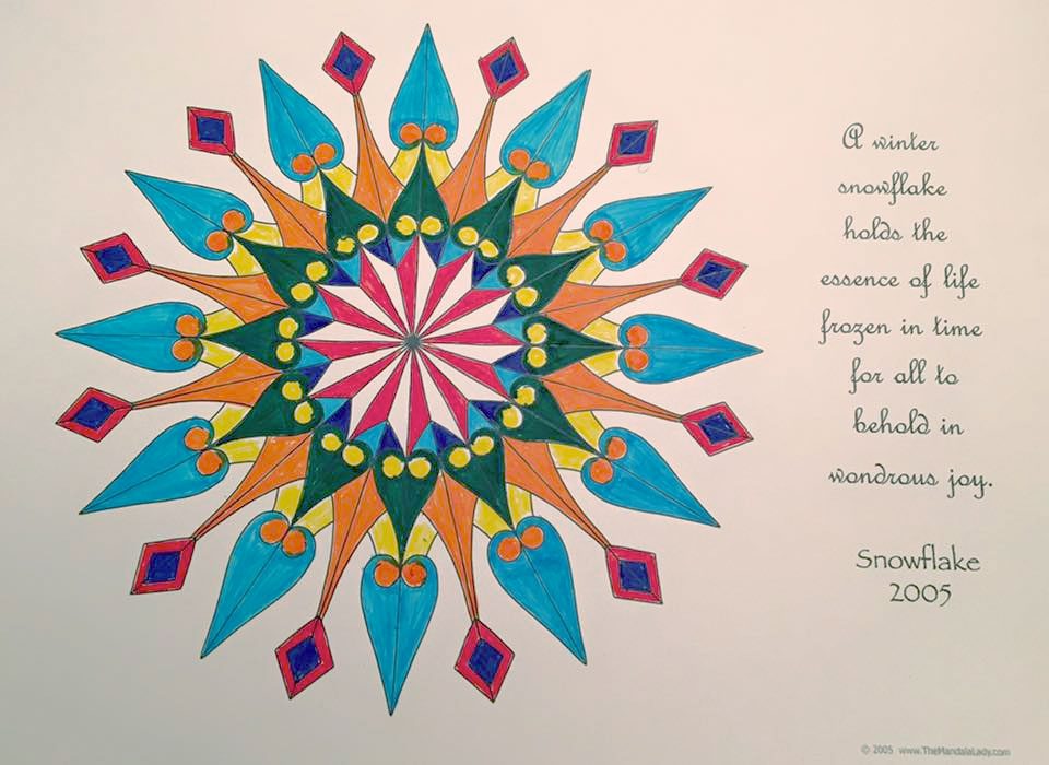 Snowflake 2005 Mandala - coloring by Cee