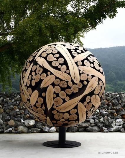 Wooden Orb by Jaehyo Lee