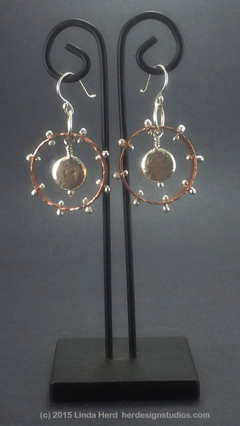 Metal Earrings by Linda J. Herd