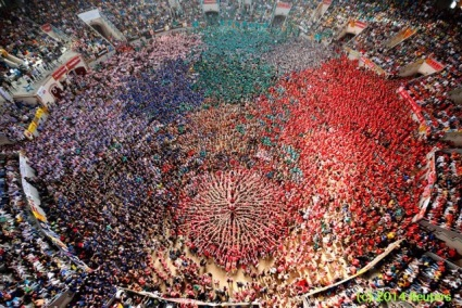 Human Towers at the 25th Tarragona Castells Competition