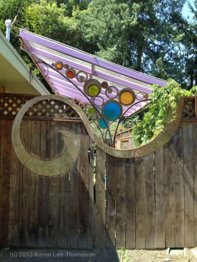 Garden Gate Art by Karen Lee-Thompson
