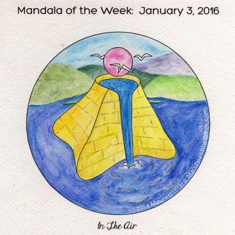 In The Air Mandala in Color