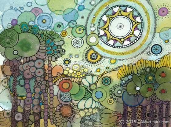 Sundara Doodle Painting by Courtney Autumn Martin