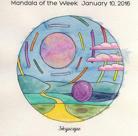 Skyscape Mandala by Maureen Frank