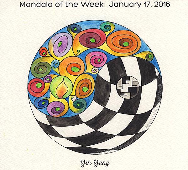 2016 021 Yin Yang Mandala In Color Mandala Of The Day - Mandalas-en-color