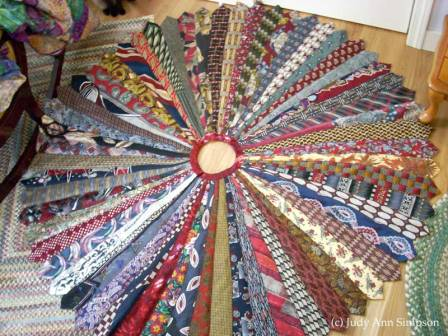 Men's Tie Mandala by Judy Ann Simpson