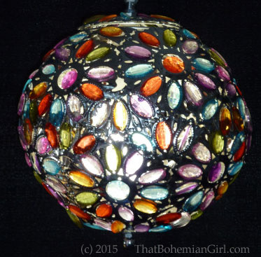 Bohemian Jeweled Beaded Lamp