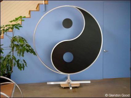 Yin Yang Sculpture by Glendon Good