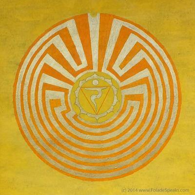 Solar Plexus Manipura Chakra Symbol Labyrinth by Folade Speaks