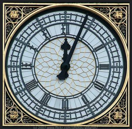 Parliament Tower Clock Face photo by Aldaron