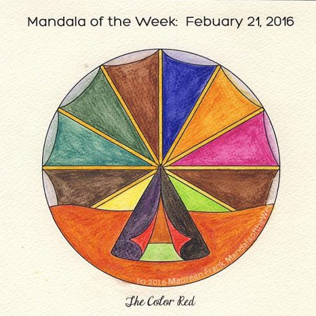 The Color Red by Maureen Frank watercolors on w/c paper