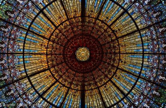 Palau de la Música Catalana Stained Glass Ceiling