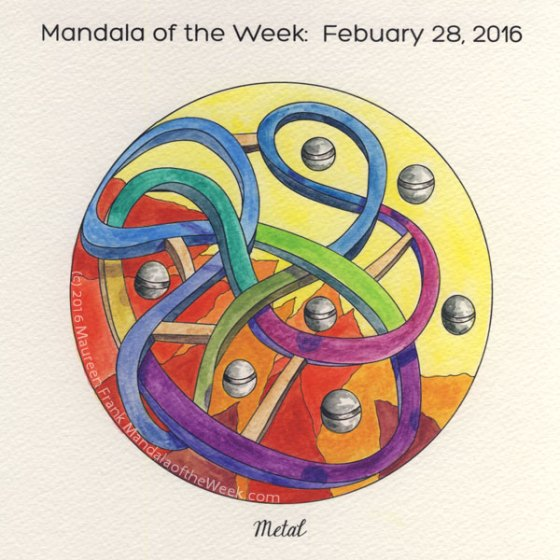 Metal Mandala by Maureen Frank, The Mandala Lady