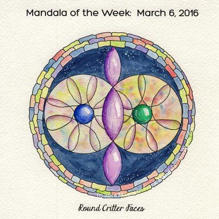 Round Critter Faces Mandala by Maureen Frank, The Mandala Lady