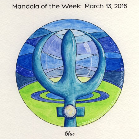 Blue Mandala by Maureen Frank, The Mandala Lady