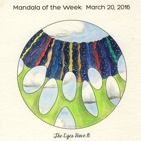 The Eyes Have It Mandala by Maureen Frank