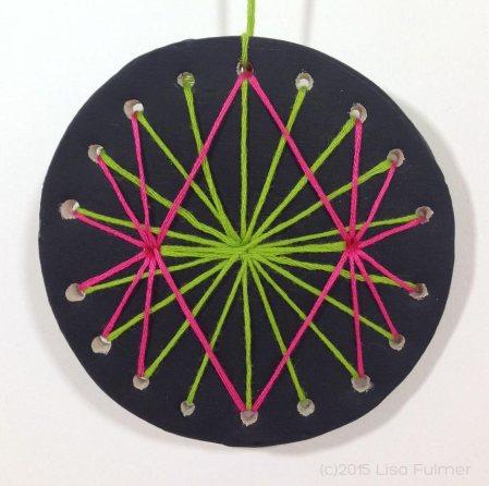Yarn and Clay Mandala