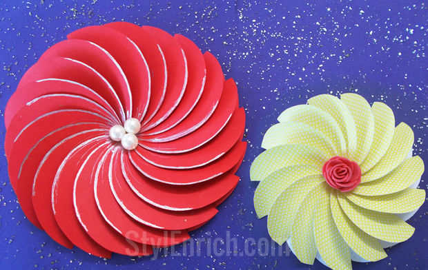 DIY SPiral Flower by Ananvita