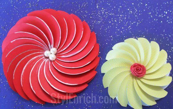 DIY SPiral Flower by Ananvita