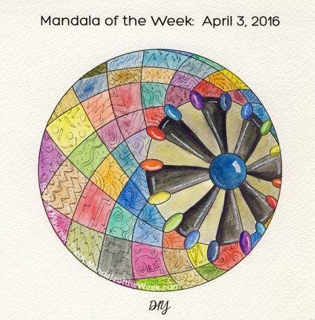 DIY Mandala in Color by Maureen Frank