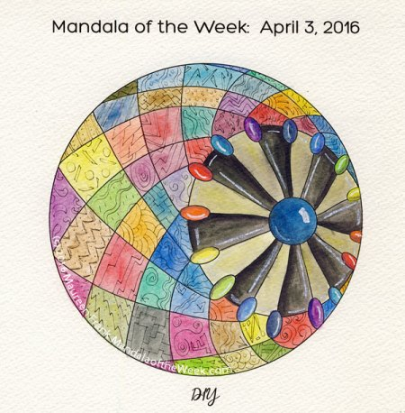 DIY Mandala in Color by Maureen Frank