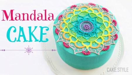 Mandala Cake from Cake.style