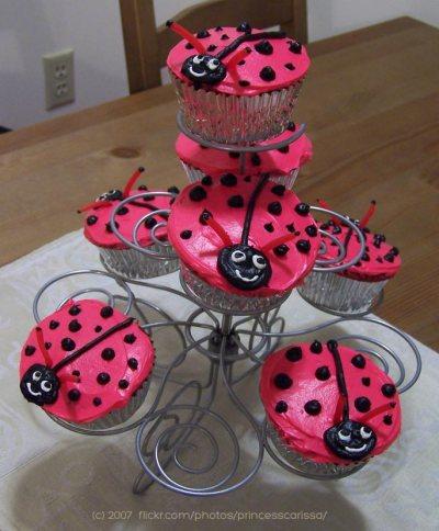 Ladybug Cupcakes by Carissa Bonham