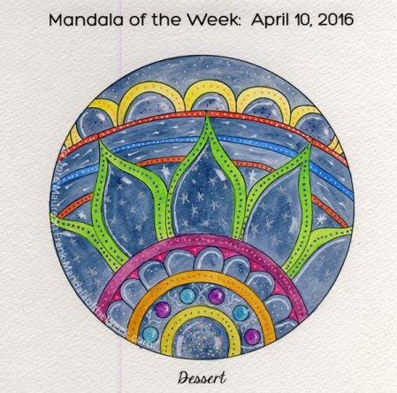 Dessert Mandala in Color by Maureen Frank