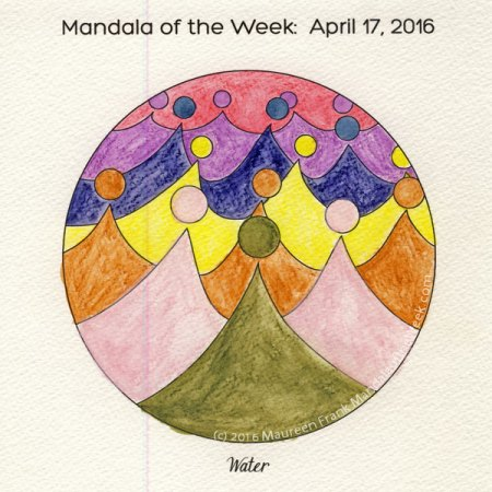 Water Mandala in Color by Maureen Frank