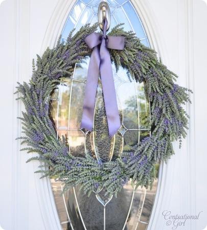 DIY Lavendar Wreath