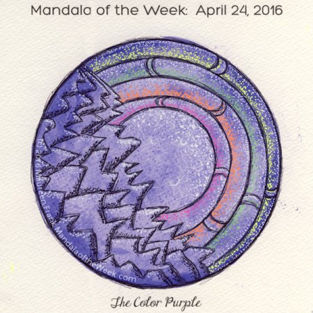 The Color Purple Mandala in Color by Maureen Frank