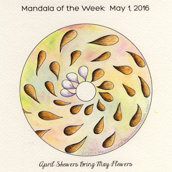 April Showers Bring May Flowers Mandala by Maureen Frank