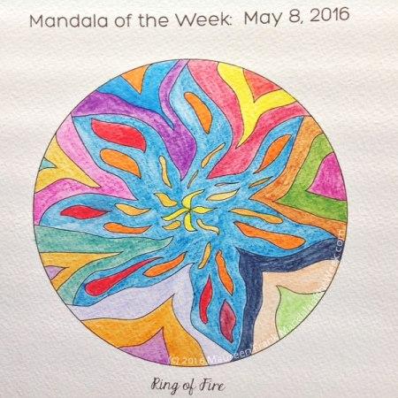 Ring of Fire  Mandala in Color by Maureen Frank
