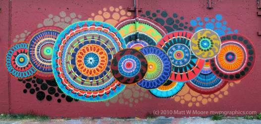 Mural of Mandalas by Matt W. Moore