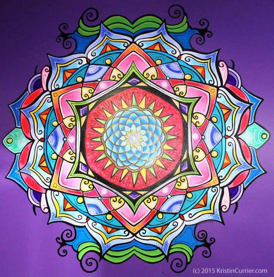 Shower Mandala by Kristin Currier Ludlow